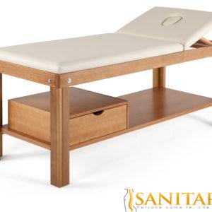 Lettino in legno per massaggi